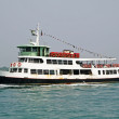 Erry carries passengers and tourists to the island from the venetian lagoon — Stock Photo