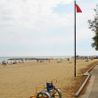 Accessibility for disabled on the beach of the Adriatic Sea — 图库照片