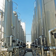 Stock Photo: Contenimeto giant silos of liquids such as milk and wine