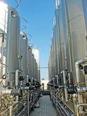 Contenimeto giant silos of liquids such as milk and wine — Stock Photo