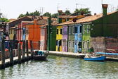 House of burano island in Venice — 图库照片
