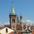 Towers and steeples of an Italian city near Venice — Foto Stock
