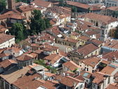 Aerial view of the rooftops of an Italian city — 图库照片