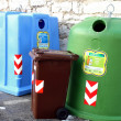 Stock Photo: Containers for waste collection as glass and paper
