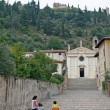 Marostica church near Vicenza - Stock Photo