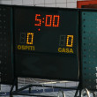 Panel with details of the score during a game — Stock Photo #9233543