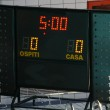 Panel with details of the score during a game — Stock Photo