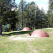 Mimitizzate domes of the guns of World War I - Foto de Stock
