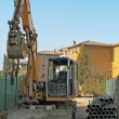 Bulldozer during excavation in road construction site — Stock Photo #9294342