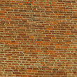 Red bricks in a medieval tower in Vicenza — Stock Photo