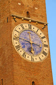 Tower in the center of the Palladian Basilica in Vicenza — Stockfoto