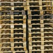 Wood pallets for the storage of the goods — Foto de Stock