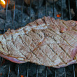 Royalty-Free Stock Photo: Beef cooked on a barbecue grill