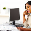 Businesswoman using a mobile phone — Stock Photo #10401703