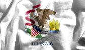 Flag of illinois — Stock Photo