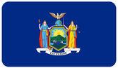Flag of new york — Stock Photo