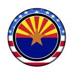 America arizona button — Stock Photo #9388090