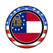 America georgia button — Stock Photo