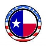 America texas button — Stock Photo #9388135