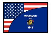 America wisconsin flag — Stock Photo