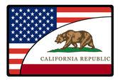 America california flag — Stock Photo