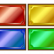 Colored metallic plaques — Stock Vector