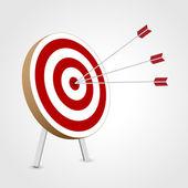 Successful triple target hit — Stock Vector
