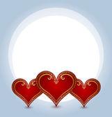Three hearts — Stock Vector