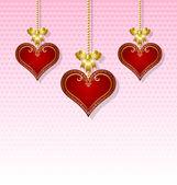 Three hearts — Vettoriale Stock