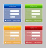 Member login website elements — Stock Vector