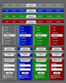 Navigation menu and website elements — Stock Vector