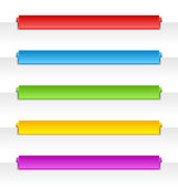 Colorful folded paper navigation menu backgrounds — Stock Vector