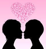 Lesbian love — Stock Vector