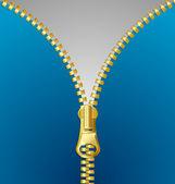 Metallic zipper — Stock Vector