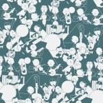 ������, ������: Merry band art deco vintage background