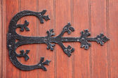 Wrought iron door decoration — Stock Photo
