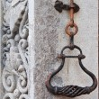 Old wrought iron bell handle — Stock Photo #10457432