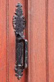 Wrought iron door handle — Stock Photo