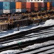 Industrial railway terminal in winter — Stock Photo #8286557