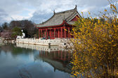 Chinese Red Pavilion — Stock Photo