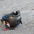 Abandoned helmet — Stock Photo