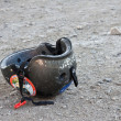 Stock Photo: Abandoned helmet