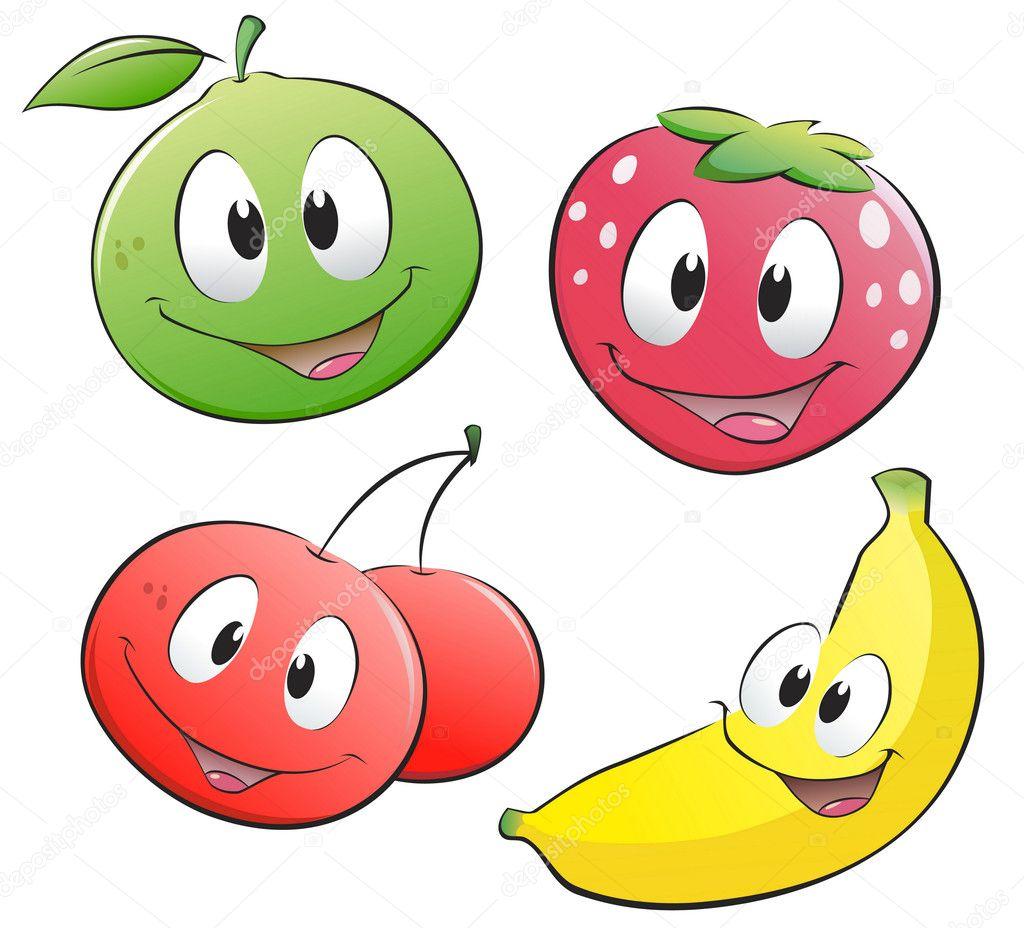 Cute cartoon fruit stock vector 9224378 for Clipart frutta
