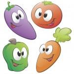 Cartoon Vegetables — Stock Vector