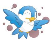 Cute Cartoon Bird — Stock Vector