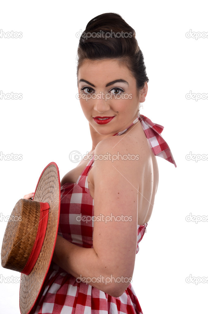 Beautiful Woman in Retro Clothing  — Stock Photo #10622705