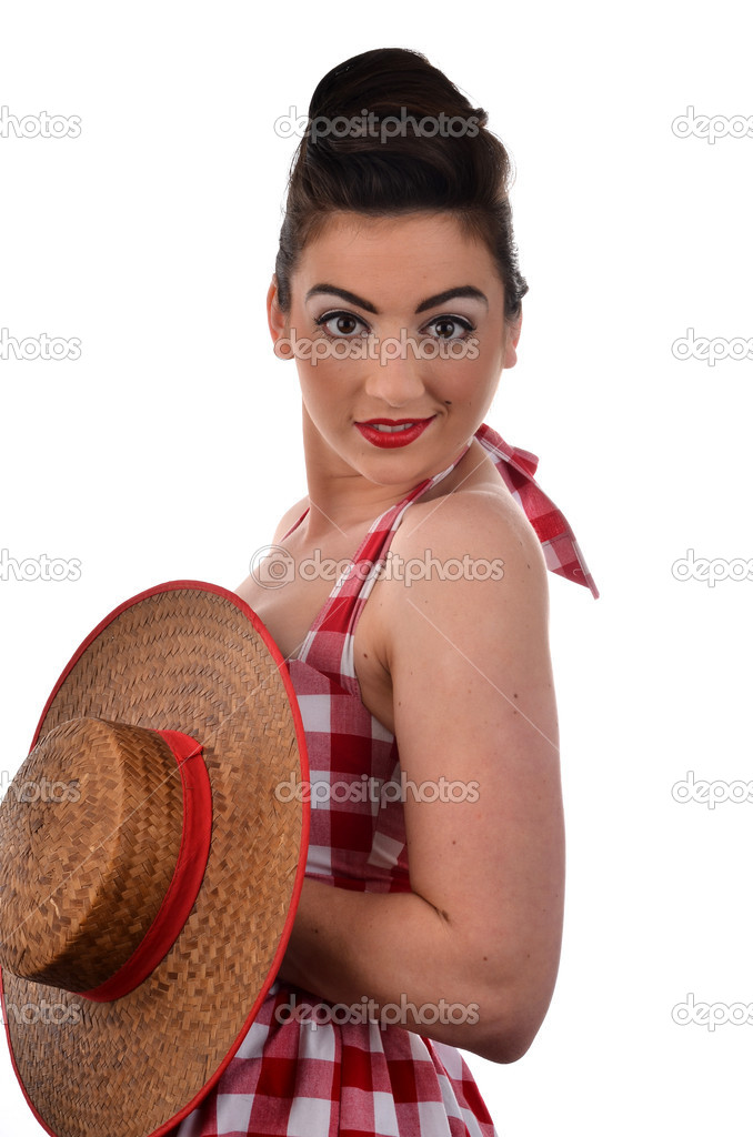 Beautiful Woman in Retro Clothing  — Stock Photo #10622719