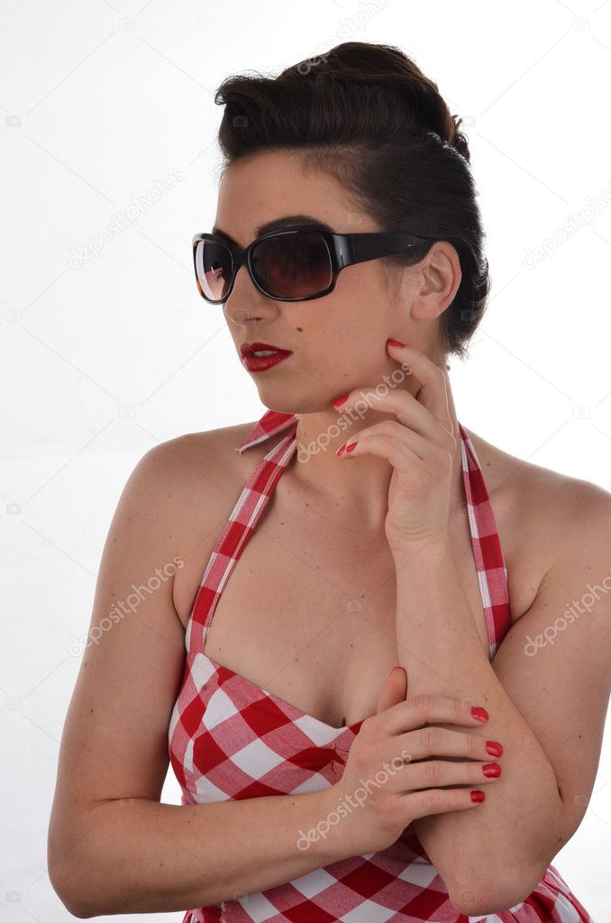 Beautiful Woman in Retro Clothing  — Stock Photo #10622773