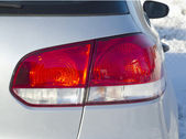 Car rear light closeup — Stock Photo