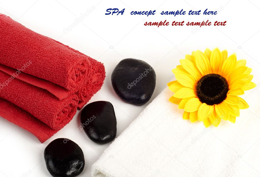 Image of spa concept on white — Stock Photo #9704318